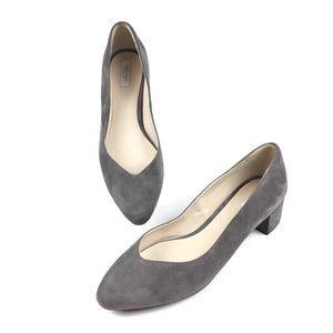 Cole Haan Yuliana Grey Suede Block Heels